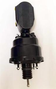 "7/"" Dual BLACK Universal Power Brake Booster BLACK Smooth Top Master Cylinder"