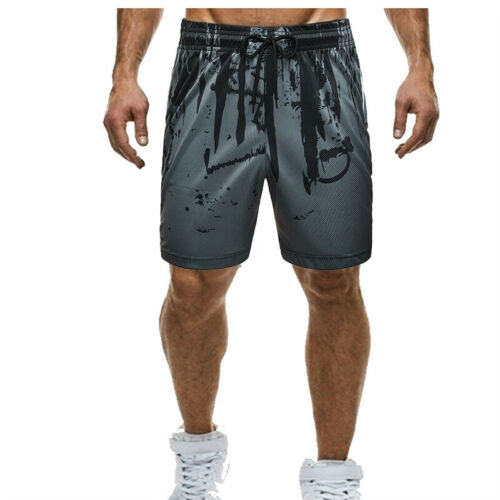 Sport Men/'s GYM Jogger Casual Shorts Fitness Workout Camo Running Elastic Pants