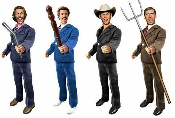 Anchorman 8 inch Retro-Style Figure Battle Ready Set of 4 by Underground Toys