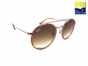 bdc0252be3 RAY BAN DOUBLE BRIDGE 3647N 907051 ROUND METAL BRONZO SFUMATO BROWN ...