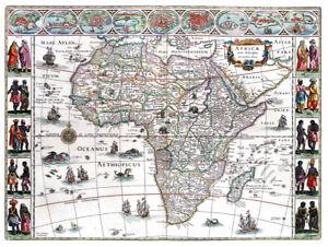 Reproduction carte ancienne - Afrique en 1665 (Africa)