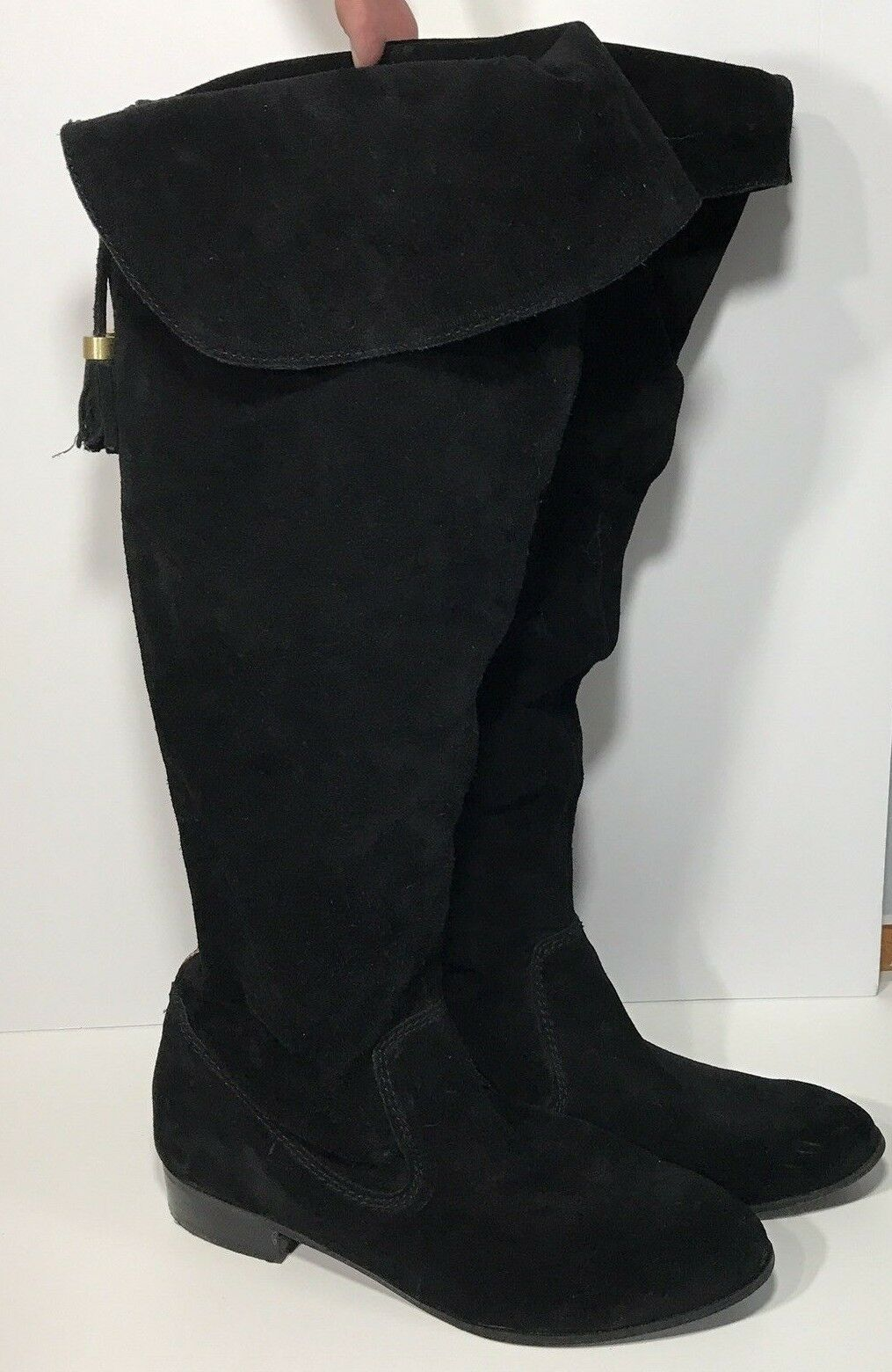 Enzo Angiolini 9 M Boots Earandies Tall Suede Leather Flaw Peeling Inside Womens