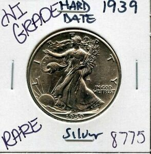 1939-LIBERTY-WALKING-SILVER-HALF-DOLLAR-COIN-8775-HI-GRADE-US-MINT-RARE-V4