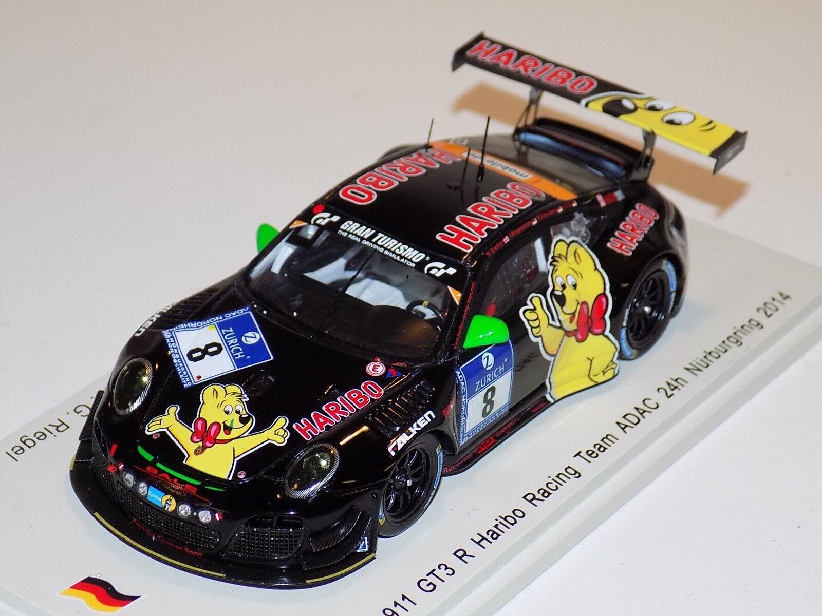 Spedizione gratuita al 100% 1 43 Spark Porsche 911 GT3 R auto    8 24 Hours of Nurburgring 2014  SG146  prezzi bassi