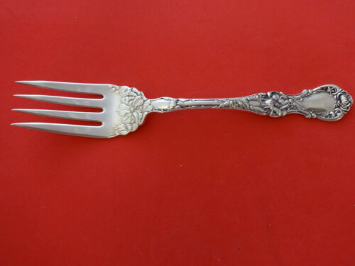 """Floral by Wallace Plate Silverplate Cold Meat Fork 8/"""""""