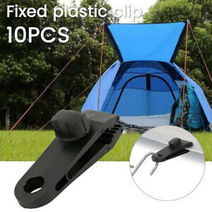 Outdoors Camping Alligator Clip Tent Awning Tarp Clamp Snap Gripper Hanger.