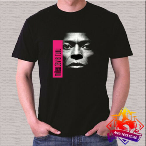 Miles Davis Jazz Musician Legend Logo Men/'s Black T-Shirt Size S 3XL