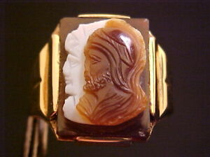 DECO-1920-039-S-10K-YELLOW-GOLD-CARVED-SOLDIERS-IN-SARDONYX-RING-SZ-9-5-TOP-18X16-034