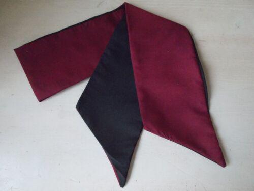 COVER HEAD Fascia Per Capelli Sciarpa IL VINO DI BORGOGNA Nero Self Cravatta Fiocco Collo Rockabilly Pin Up