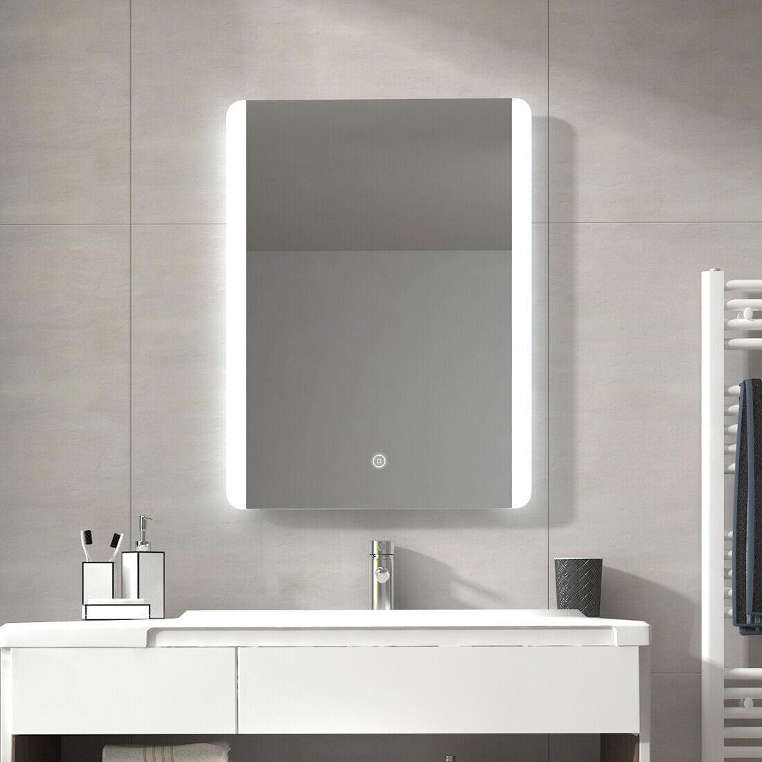 Bad Spiegel mit Beleuchtung Badezimmerspiegel LED Badspiegel Wandspiegel Touch