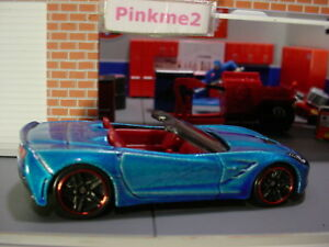 2018-Hot-Wheels-039-14-CORVETTE-STINGRAY-blue-red-pr5-Multi-Pack-Exclusive-LOOSE