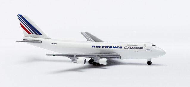 Herpa 502450 Air France Cargo Boeing 747-200F 1 500 Scale REG F-BPVV 1998