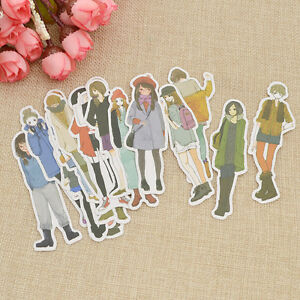 Women Chacrater Paper Sticker DIY Photo Album Scrapbook Diary Planner Decor