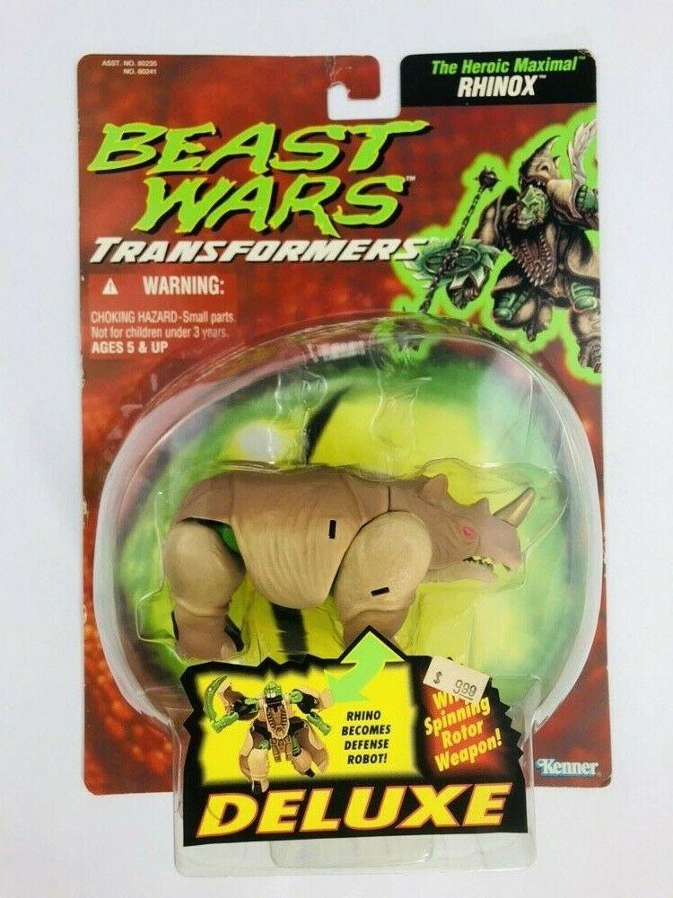 RHINOX Transformers BEAST WARS Deluxe 1995 Hasbro Kenner NEW in Verpackungage Jahr