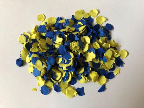 Party Blau Gelb Konfetti Deko Papierkonfetti Geburtstag Tischkonfetti  100 g