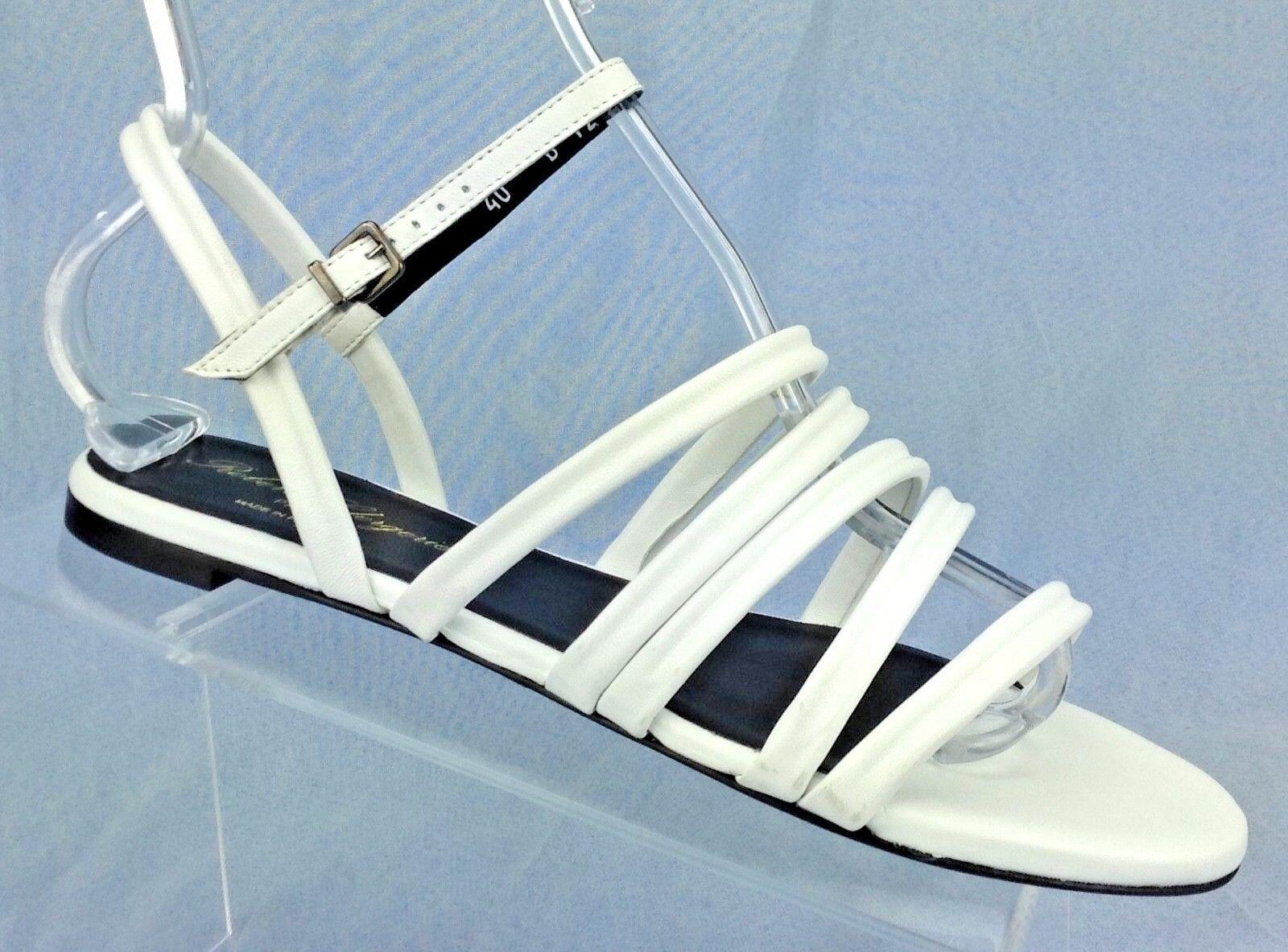 Robert Robert Robert Clergerie Gaga 40 bianca Nappa Leather Flat Sandals scarpe Donna  US 9.5 5c8d4b