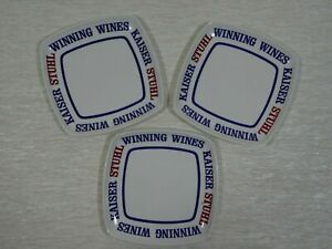 3-x-Kaiser-Stuhl-Winning-Wines-Advertising-Mini-Plates-Melbourne-Made-in-Italy