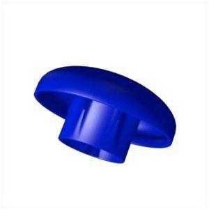 Endkappe blau für Trampolin mit innenliegenden Netz und Stangen 25 mm