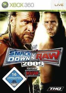 WWE-Smackdown-vs-Raw-2009-de-THQ-Entertainment-GmbH-Jeu-video-etat-bon