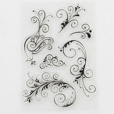 Peacock Flourishes Transparent Clear Silicone Stamp/Seal for DIY scrapbooking/ph