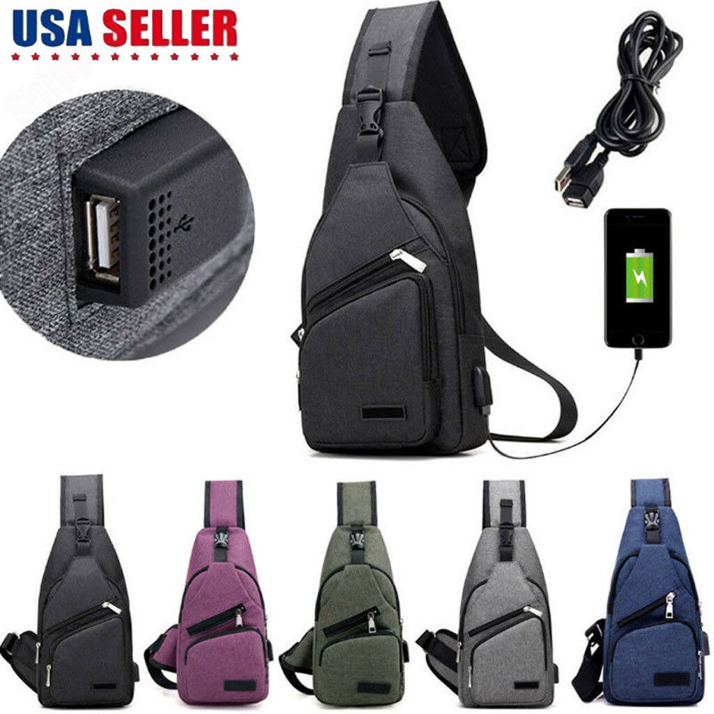 Men Canvas Messenger Shoulder Bag Sling Chest Pack Crossbody Cycle - s l1600