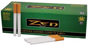 ZEN-Green-Menthol-King-Size-3-Boxes-200-Tubes-Per-Box-RYO-Tobacco-Cigarette