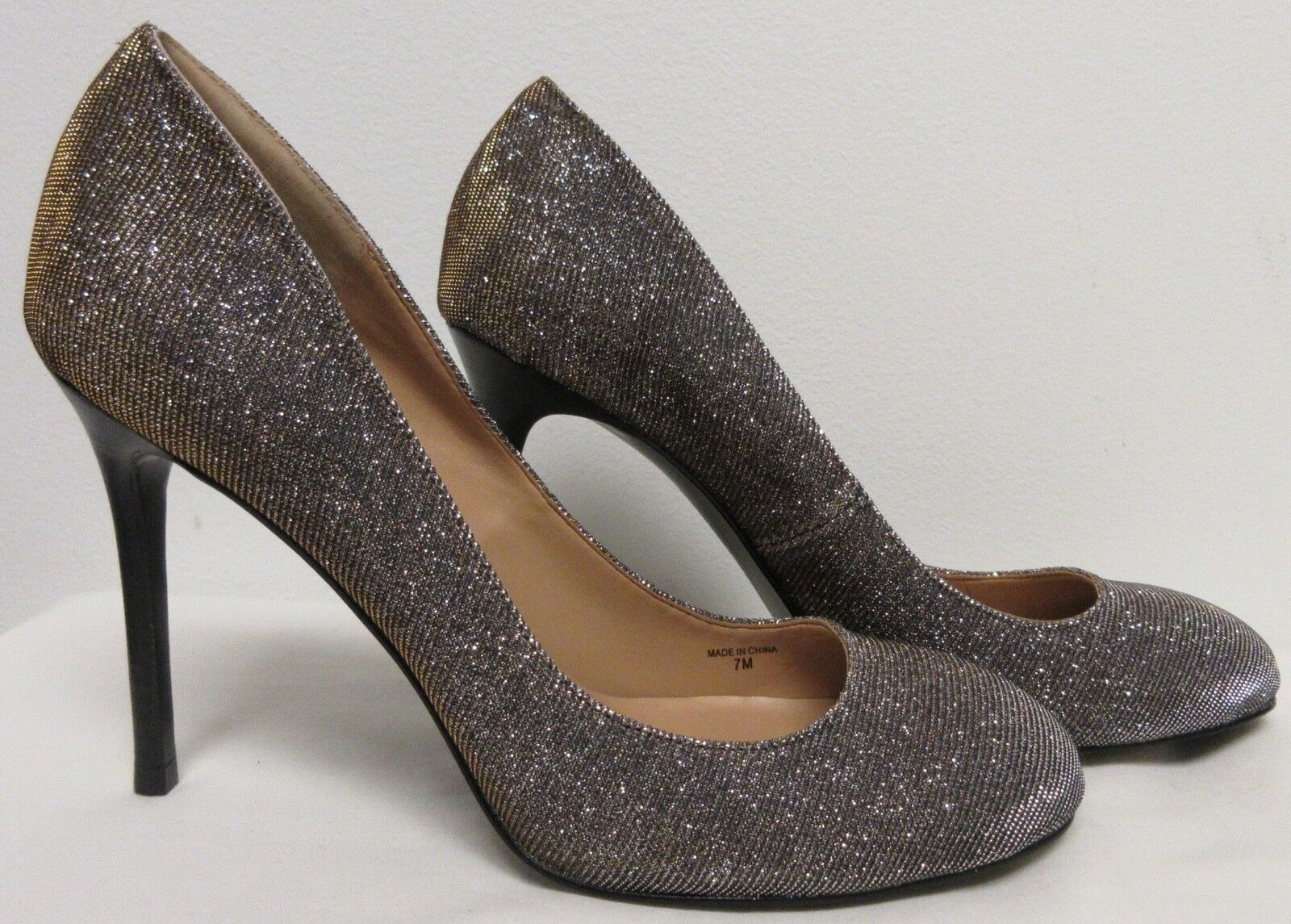 BANANA REPUBLIC HELLO SOLE MATE CLASSIC METALLIC SHEEN  STILETTO PUMPS 7.5