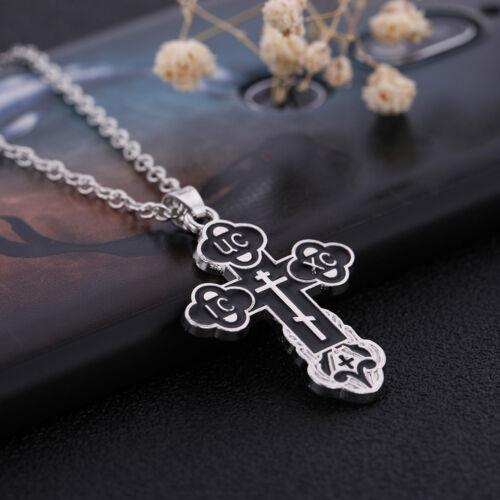 Religieux chrétien orthodoxe Bud Croix Jésus Christ Pendentif Bénédiction Collier
