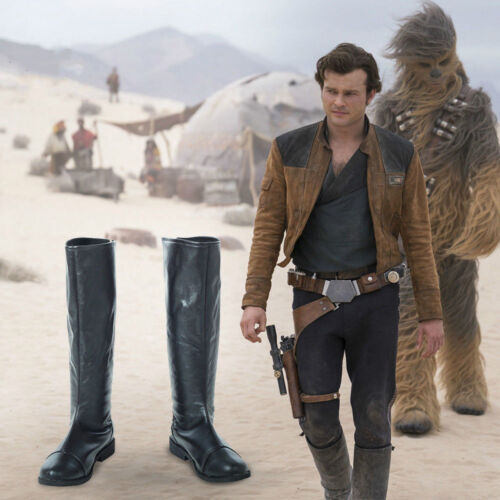 Solo A Star Wars Story Cosplay Han Solo Leather Boots Shoes Custom Made MM.786