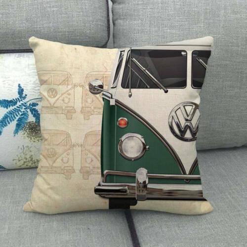 45cm*45cm bus Design linen//cotton throw pillow covers couch cushion cover