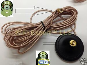 WiFi Antenna Magnetic Base RP-SMA 3 Foot Extension Cable from USA