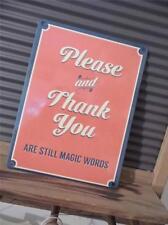 Retro Vintage De Metal de estilo placa de pared de signo * Please & Thank you-still palabras mágicas