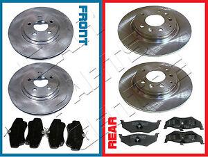 Pour-chrysler-pt-cruiser-2-0-2-2-crd-2-4-avant-et-arriere-disque-de-frein-disques-pad-pads