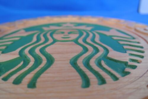 Starbucks Cherry Wood  Plaque American Made Home Made