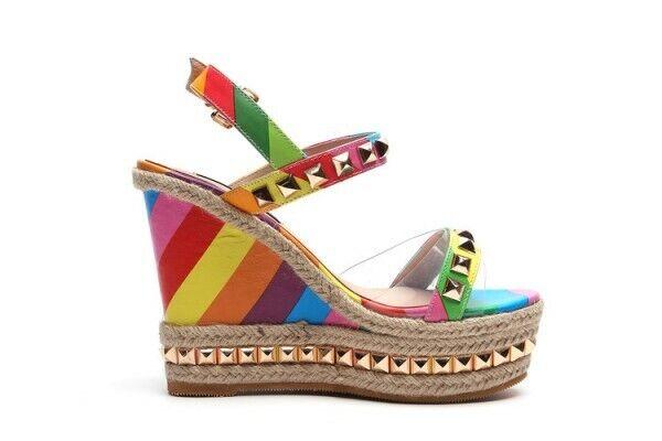 Scarpe  da scarpe da Heel High Wedge Heel a Coloreeei per donne.  marchi di stilisti economici