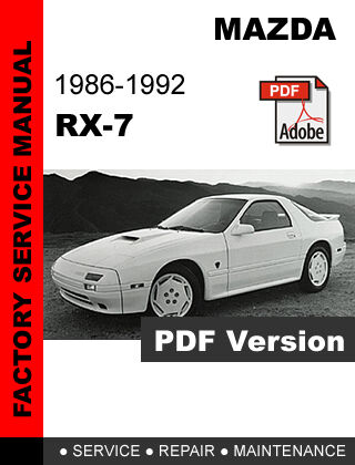 mazda rx7 rx 7 1986 1992 fc factory oem service repair workshop rh ebay com 1990 Mazda RX-7 1990 Mazda RX-7