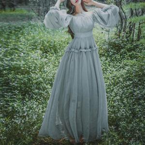 dfece67a229 Image is loading Falbala-Fairy-Dresses-Vintage-Sweet-Elegant-Dress-Long-
