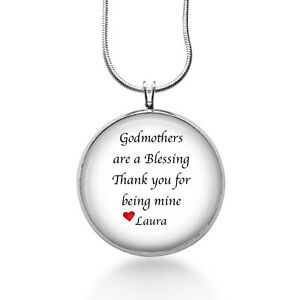 Godmother necklace godmothers are a blessing personalized image is loading godmother necklace godmothers are a blessing personalized christmas aloadofball Gallery