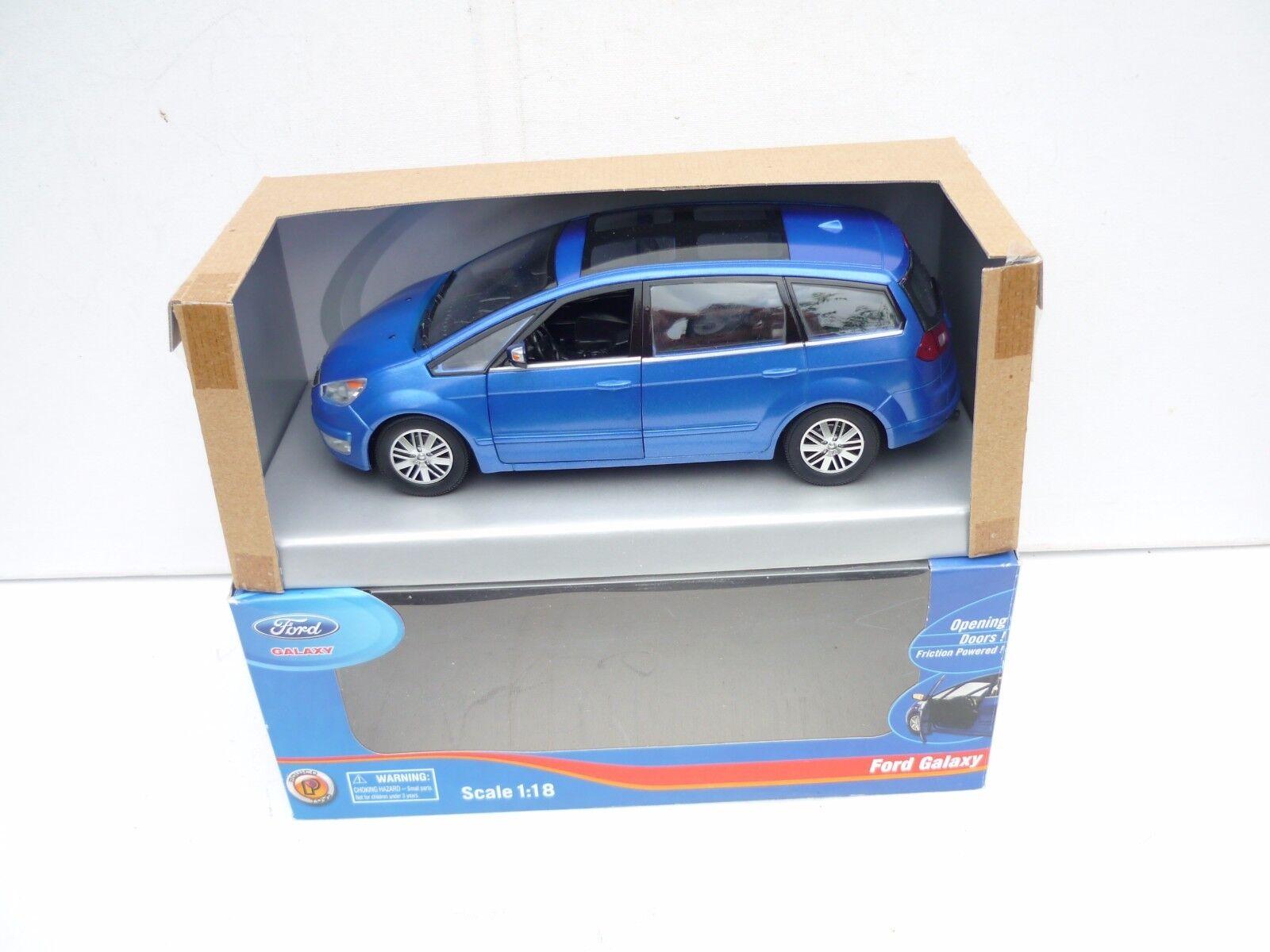 1 18 POWCO FORD GALAXY PLASTIC MODELLE DEALER BOX RARE SELTEN M BOX