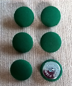 Chenille Velours 30L//19mm Marine recouvert de tissu boutons recouverts Craft bleu