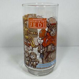 Star-Wars-1983-Return-of-the-Jedi-Burger-King-Glass-The-Ewok-Village-Excellent