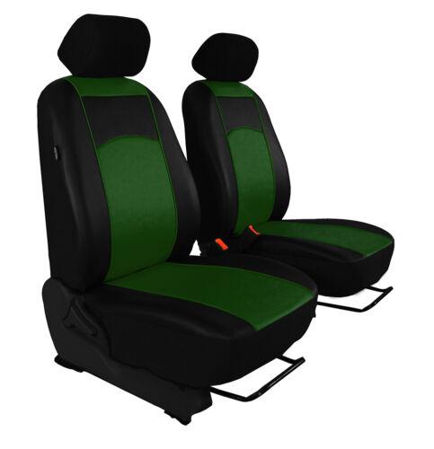 Für ISUZU D-MAX II paßgenaue Vordersitzbezüge im Kunstleder Grün.