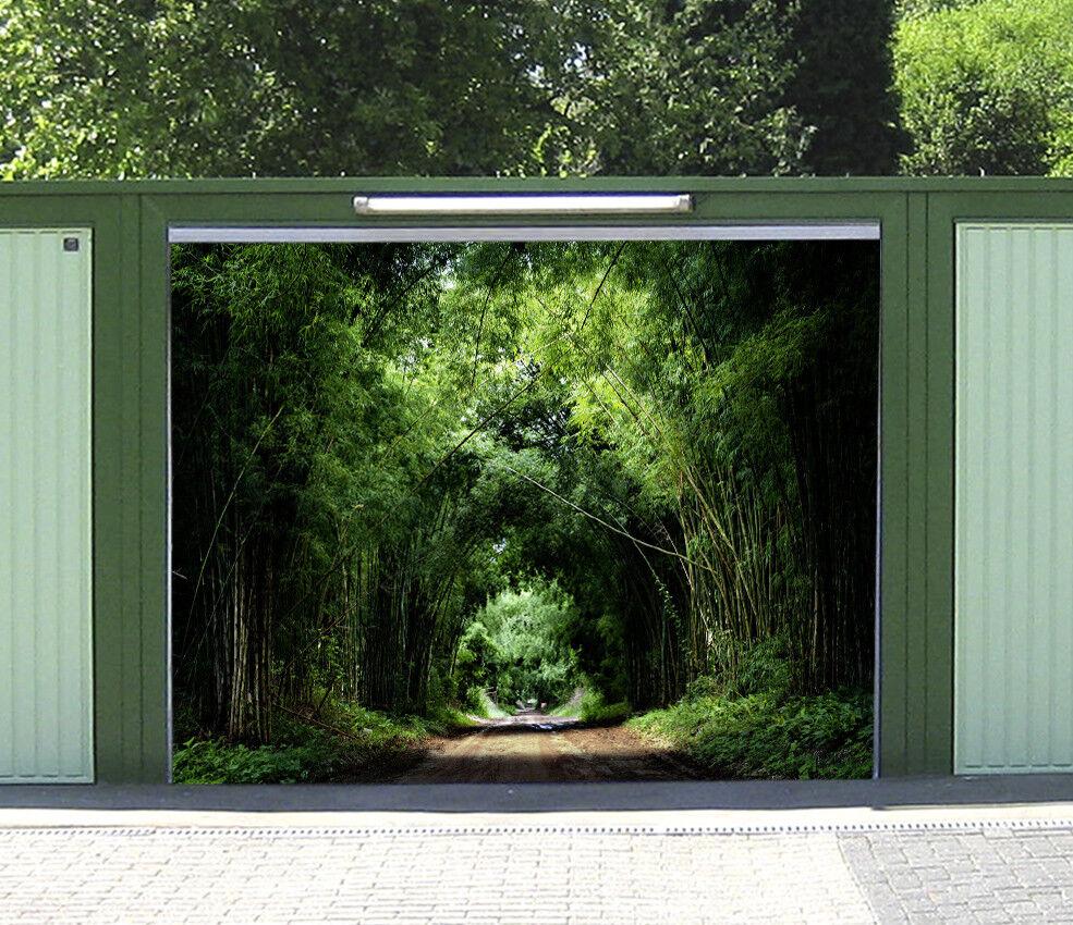 3D Green Bamboo 5 Garage Door Murals Wall Print Decal Wall AJ WALLPAPER AU Lemon
