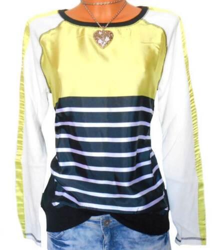SW30 LAURA SCOTT Damen Pullover Sweatshirt Satin Gr 32 34 36 38 40 42 NEU