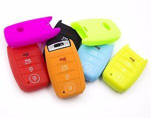 4 button silicone smart key case cover 1pcs for kia soul 2014 2017 image is loading 4 button silicone smart key case cover 1pcs sciox Images