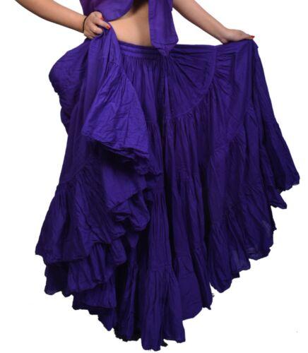 Wevez Latin American Tribal Dance 25 Yard Cotton Skirt 40 Inch Long