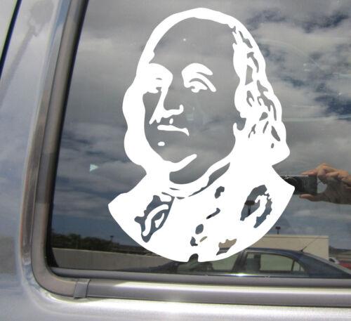 Benjamin Franklin American President Car Bumper Window Vinyl Decal Sticker 10425