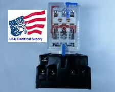 New Relay 11pin Coil 24vdc 10a5a 250vac30vdc With Socket Base 7a 250v