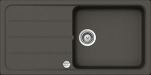 SCHOCK Einbauspüle FORMHAUS D-100L-A Unterschrank 6 Cristalite+ Farbe Asphalt