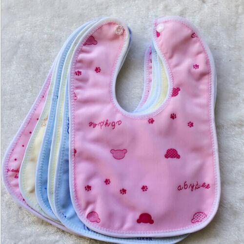 Newborn Toddler Infant Baby/&Boy/&Girl Bibs Waterproof Saliva Cartoons Towel In UK
